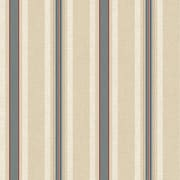 Inspired By Color™ Red Multi Pinstripe Wallpaper, Beige With Blue