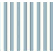 Inspired By Color™ Blue Silk Stripe Wallpaper, Blue With White
