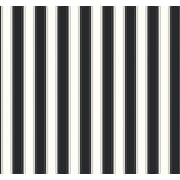 Inspired By Color™ Black & White Random Silk Stripe Wallpaper, Black With White