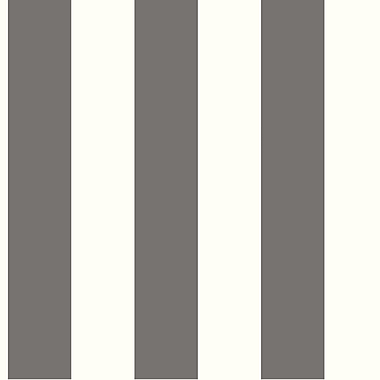 Inspired By Color™ Beige 3 Stripe Wallpaper, Black With White