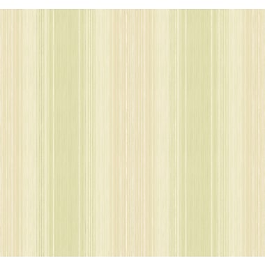 Inspired By Color™ Green Stria Wallpaper, Green With White