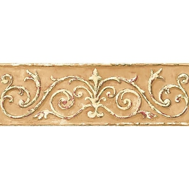 Inspired By Color™ Borders Arch Scroll Border, Golden Tan With Cream/Moss Green/Cranberry Red