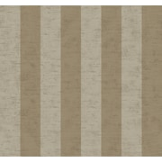 Inspired By Color™ Metallics 3 Wide Stripe Wallpaper, Light Brown With Gray