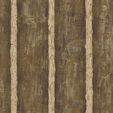 Inspired By Color™ Country & Lodge Log Sidewall Wallpaper, Brown