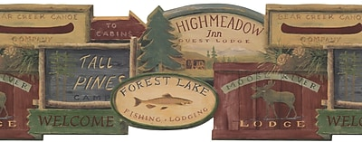 Inspired By Color Country & Lodge Rustic Lodge Signs Border, Brown 266239