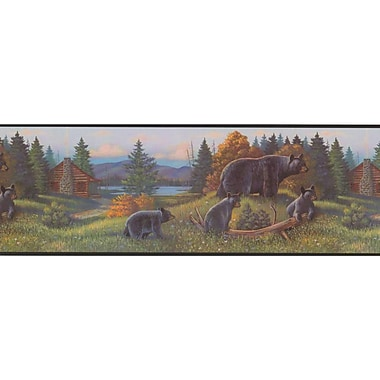 Inspired By Color™ Borders Black Bear Border, Multi With Black