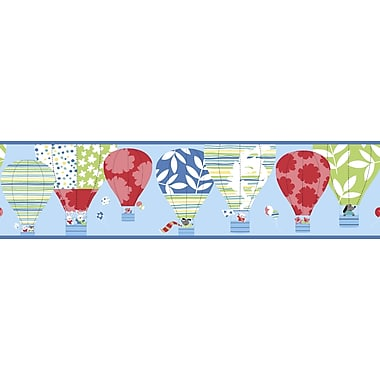 Inspired By Color™ Kids Hot Air Balloon Border, Blue With Red/Green/Teal/Yellow/White