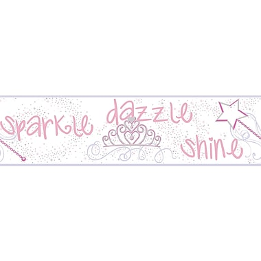 Inspired By Color™ Kids Sparkle, Dazzle, Shine Border, Pink With Purple/Gray/Hot Pink