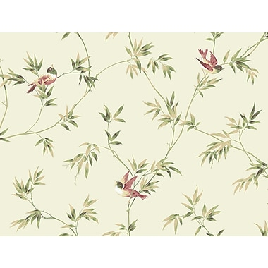 Inspired By Color™ Orange & Yellow Songbirds Sidewall Wallpaper, Yellow