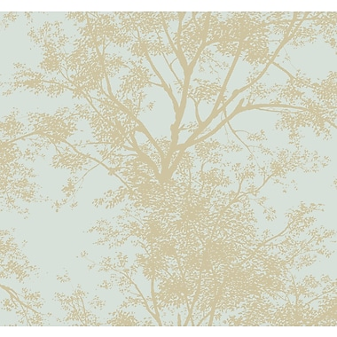 Inspired By Color™ Blue Tree Silhouette Sidewall Wallpaper, Blue