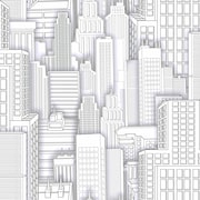 Inspired By Color™ Kids Spiderman City Sidewall Wallpaper, White With Gray