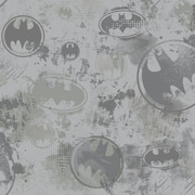Inspired By Color™ Kids Batman Sidewall Wallpaper, Gray With Black