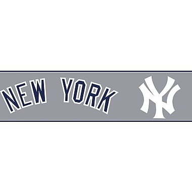 Inspired By Color™ Kids New York Yankees Border, Gray With White/Navy Blue