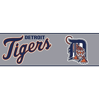 Inspired By Color™ Kids Detroit Tigers Border, Gray With Orange/Navy