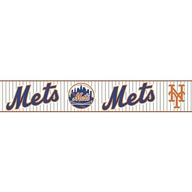 Inspired By Color™ Kids New York Mets Border, Off White With Navy/Orange