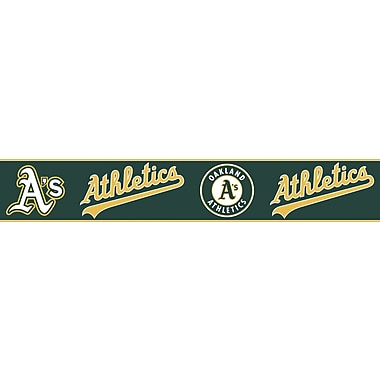 Inspired By Color™ Kids Oakland Athletics Border, Green With Yellow/White