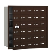 Salsbury Industries 4B+ Horizontal Mailbox 30 Doors Front Loading USPS Access ; Bronze