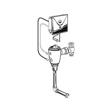 American Standard Concealed 1.0 GPF AC Urinal Flush Valve w/ Back Spud