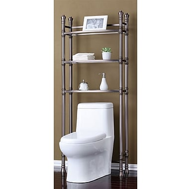 Fox Hill Trading Monte Carlo 26'' x 67'' Bathroom Space Saver Shelf; Brushed TitaniumSorry, this item is currently out of stock.