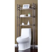 Fox Hill Trading Monte Carlo 26'' W x 67'' H Over the Toilet Storage; Brushed Titanium