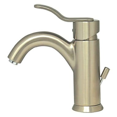Whitehaus Collection Galleryhaus Single Hole Bathroom Faucet w/ Single Handle; Brushed Nickel