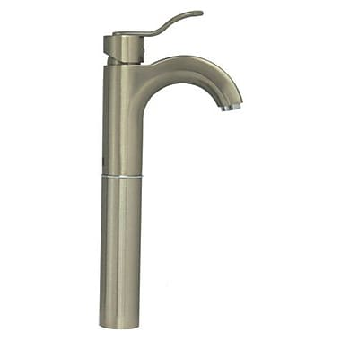 Whitehaus Collection Wavehaus Single Hole Bathroom Faucet w/ Single Handle; Brushed Nickel