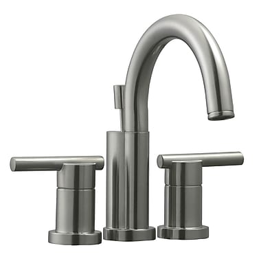 Design House Geneva Double Handle Bathroom Faucet; Satin Nickel