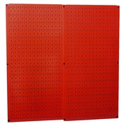 Wall Control Pegboard Panel (Set of 2); Red