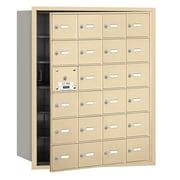 Salsbury Industries 4B+ Horizontal Mailbox 24 Doors Front Loading USPS Access ; Sandstone