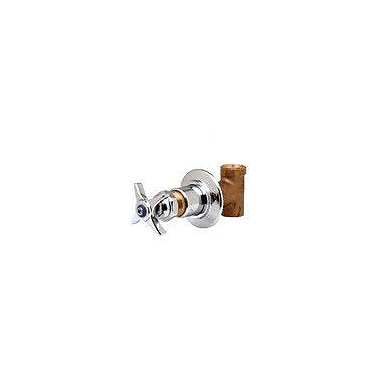 T&S Brass Concealed Straight Valve w/ Four Arm Handle