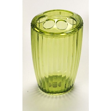 Carnation Home Fashions Acrylic Ribbed Toothbrush Holder; Palm Green
