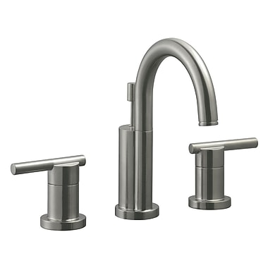Design House Geneva Double Handle Wide Spread Bathroom Faucet; Satin Nickel