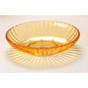 Carnation Home Fashions Acrylic Ribbed Soap Dish; Orange