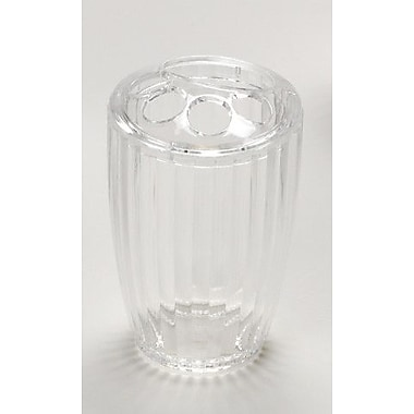Carnation Home Fashions Acrylic Ribbed Toothbrush Holder; Clear