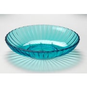 Carnation Home Fashions Acrylic Ribbed Soap Dish; Cerulean Blue