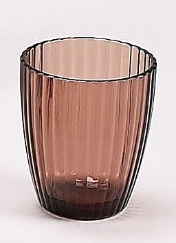 Carnation Home Fashions Acrylic Ribbed Tumbler; Brown WYF078276468250