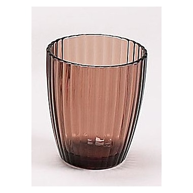 Carnation Home Fashions Acrylic Ribbed Tumbler; Brown