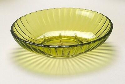 Carnation Home Fashions Acrylic Ribbed Soap Dish; Palm Green WYF078276481084
