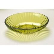 Carnation Home Fashions Acrylic Ribbed Soap Dish; Palm Green