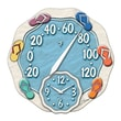 Taylor Springfield Precision Instruments 12'' Thermometer Wall Clock