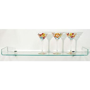 Spancraft Glass Osprey Floating shelf; Chrome
