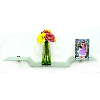 Spancraft Glass Eagle Floating Glass 31.5'' W Bathroom Shelf; Chrome