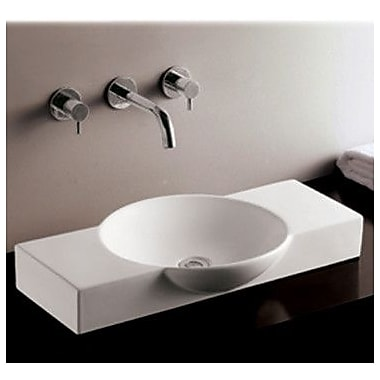 Whitehaus Collection Isabella Above Mount Bathroom Sink w/ Center Drain