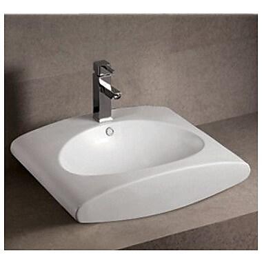 Whitehaus Collection Isabella Rectangular Bathroom Sink w/ Overflow and Center Drain