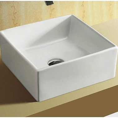 Caracalla Ceramica Square Ceramic Vessel Bathroom Sink