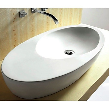 Caracalla Ceramica Oval Ceramic Vessel Bathroom Sink