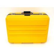 Platt 19'' Deluxe Polyethylene Tool Case with Chrome Hardware: 14.25 x 19 x 9.13; Yellow