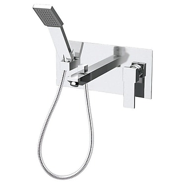 Remer by Nameek's Single Handle Wall Mounted Tub Filler Trim w/ Hand Shower