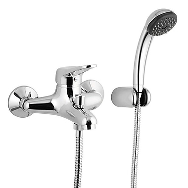 Remer by Nameek's Wall Mounted Tub Filler Trim w/ Hand Shower