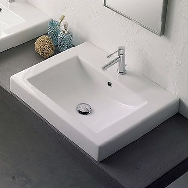 Scarabeo by Nameeks Ceramic Built-in Bathroom Sink